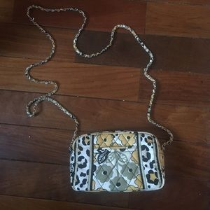 Vera Bradley yellow cheetah floral mini crossbody
